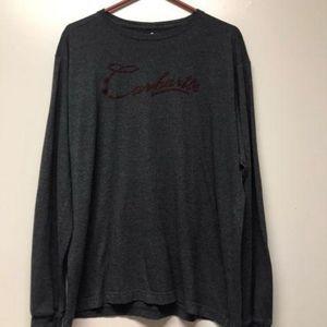 Men's Carhart T Shirt  Long Sleeve Gray Size Mediu
